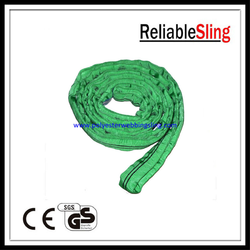Single / double ply Endless Polyester Round Slings , crane / cargo sling