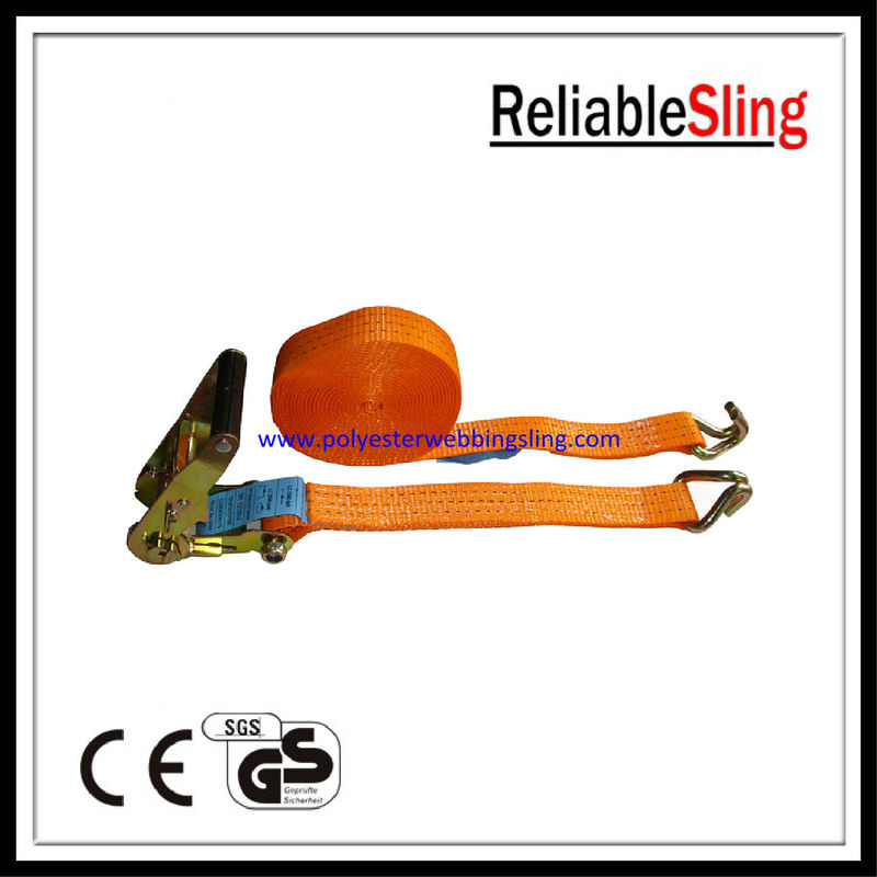 "Customized 2"" x 3 Ton tire tie down strap , ratchet lashing strap"