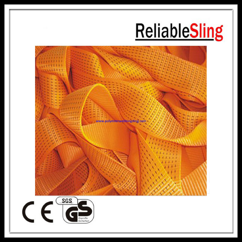 Reliable orange Ratchet Strap Webbing 75mm / 100mm Width 3 inch / 4 inch 10T