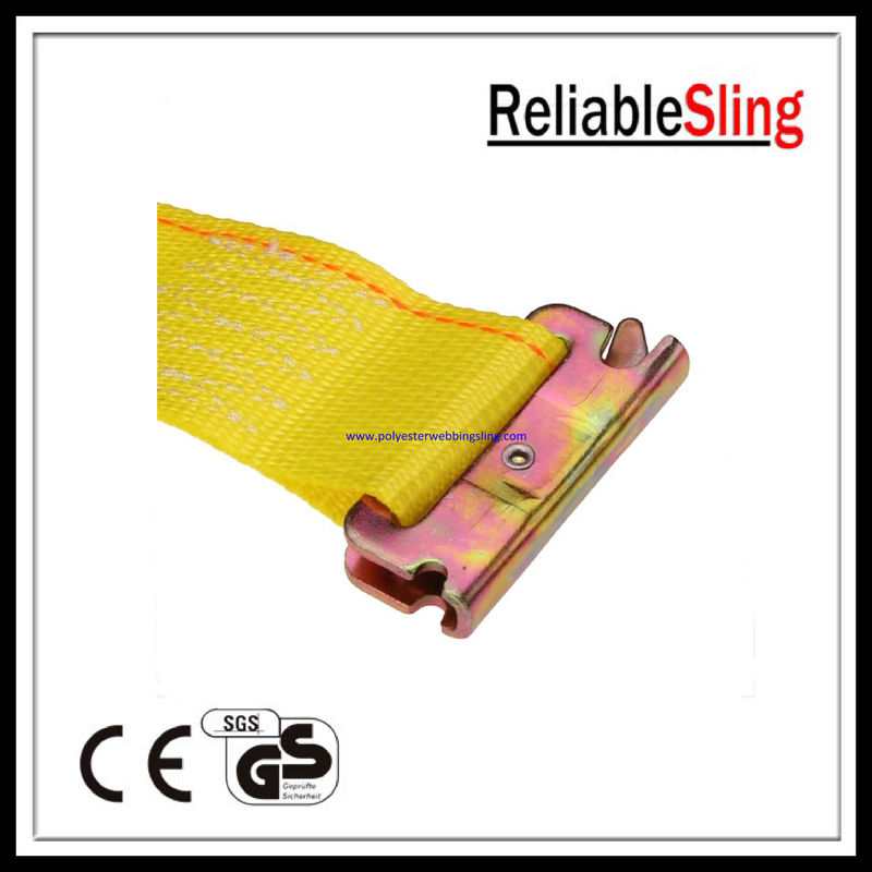 Yellow E Track Ratchet Straps with Spring E - Fittings Length 12feet / 16feet / 20feet